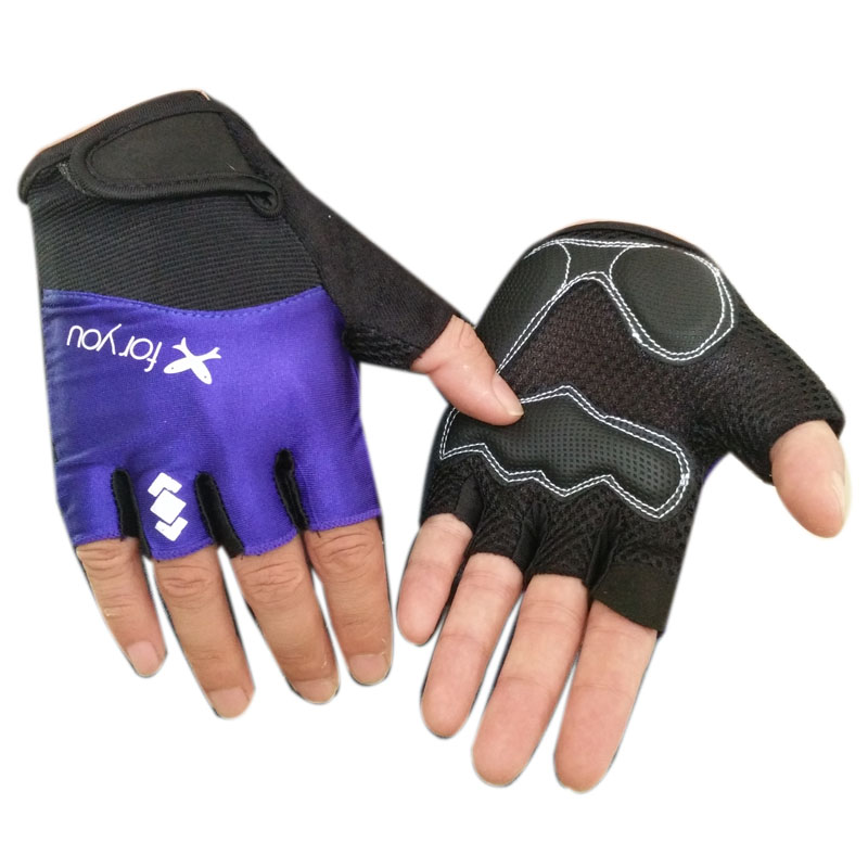 personal tailor Cheap Half Finger 3 layer mesh fabric cycling Gloves