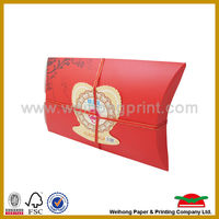 2016 unique and hiogh quality packaging pillow box wholesale supply in china