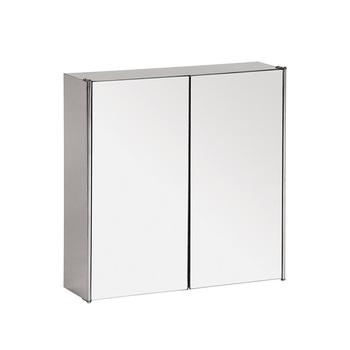 Double Doors Stainless Steel Wall Mounted Mirrored Bathroom Medicine  Cabinet   Buy Bathroom Wall Hanging Medicine Cabinet,Medicine Cabinet ...