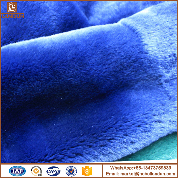 A variety of color quality rex rabbit fur plate
