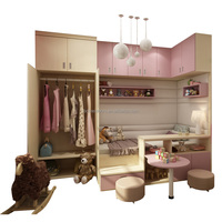 Children bedroom wardrobe children wardrobe closet with bed