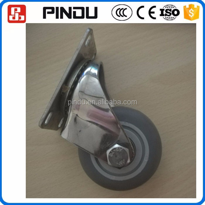 stainless steel height adjustable small rubber chair caster wheels