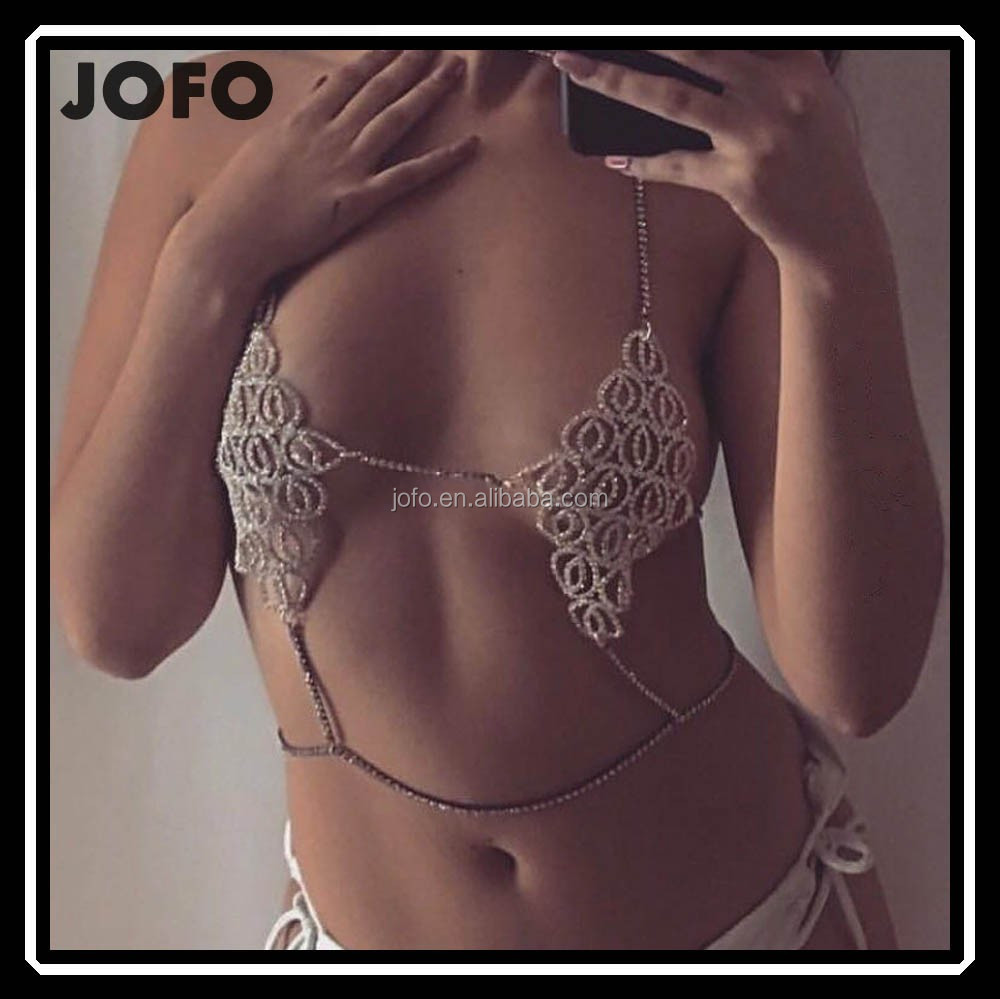 Payal Design Photos Imitation Jewelry 2017 New High Quality Large Size Statement Handmade Party Rhinestone Crystal Bra Chain