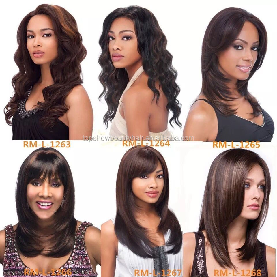 2018 New style cheap synthetic hair wig heat resist long wavy synthetic wigs for African American women