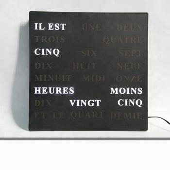 Admirable Home Decor Decorative Wall Clock 5V Tell Time With Words French German English Buy Wall Clock Words Decorative Wall Clock Word Clock Product On Download Free Architecture Designs Rallybritishbridgeorg