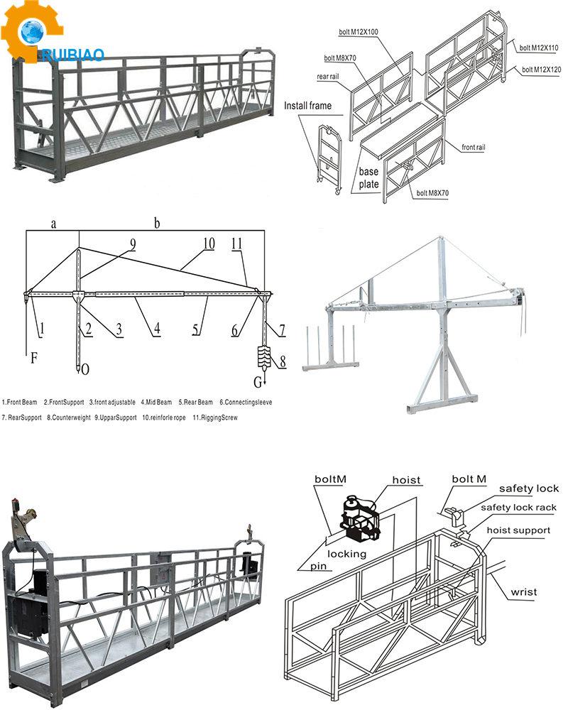 높은 스틸 중단된 일 플랫폼 경량 임시 접근 장비 zlp630