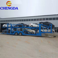 3 axle car carrier semi trailer for 15 units small car transportation