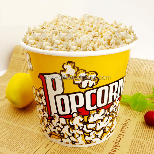 Movie popcorn paper cup bucket