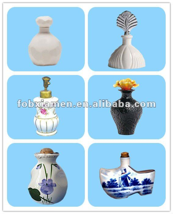 White 100ml design your own wholesale ceramic perfume bottle manufacturers
