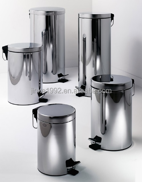 JINKE Superior Handmade Recycle Stainless Steel Built in Kitchen Waste Bins for Poland