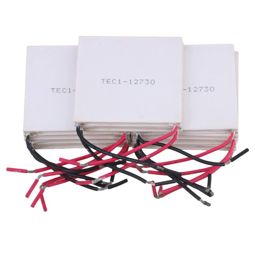 CNBTR 62 x 62mm White Thermoelectric Peltier Semiconductor Coolers Model TEC1-12730 Set of 10
