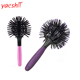 yaeshii professional magic 3d round ball soft touch massage personalized curve detangling hair brush