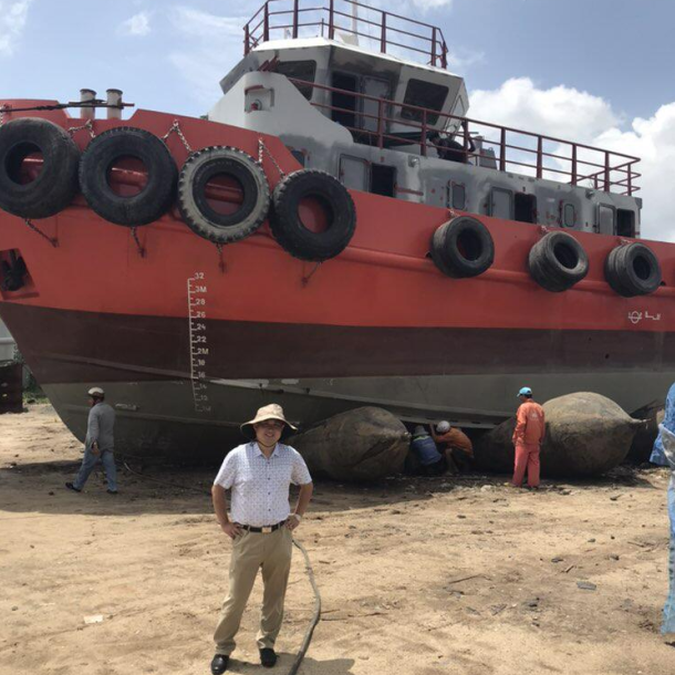 Лодка veseel резиновый понтон Корабль Перемещение подушки безопасности