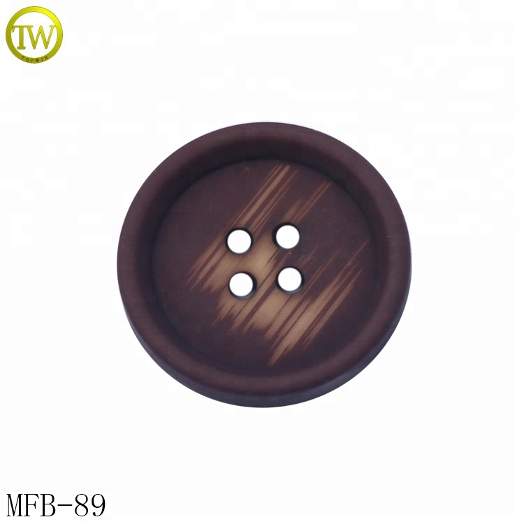 High quality bulk large coat buttons recycled plastic buttons for jacket