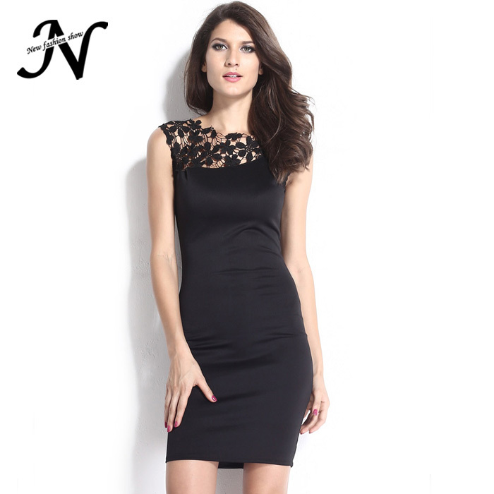 ce1df084cf Get Quotations · Free Shipping Elegant Ladies Clothing Slim Thin Black  Sleeveless New Club Sexy Party Dresses Women 2015
