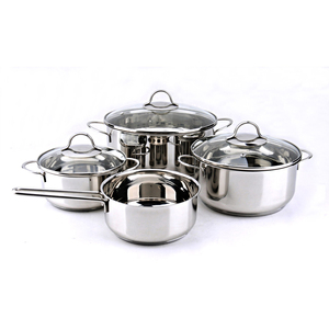 Accept OEM service stainless steel cooking pot set boiling stainless stock pot