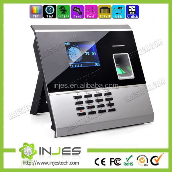 NO 1 Brand Embedded LCD Display USB Biometric TCP IP time attendance recording machine