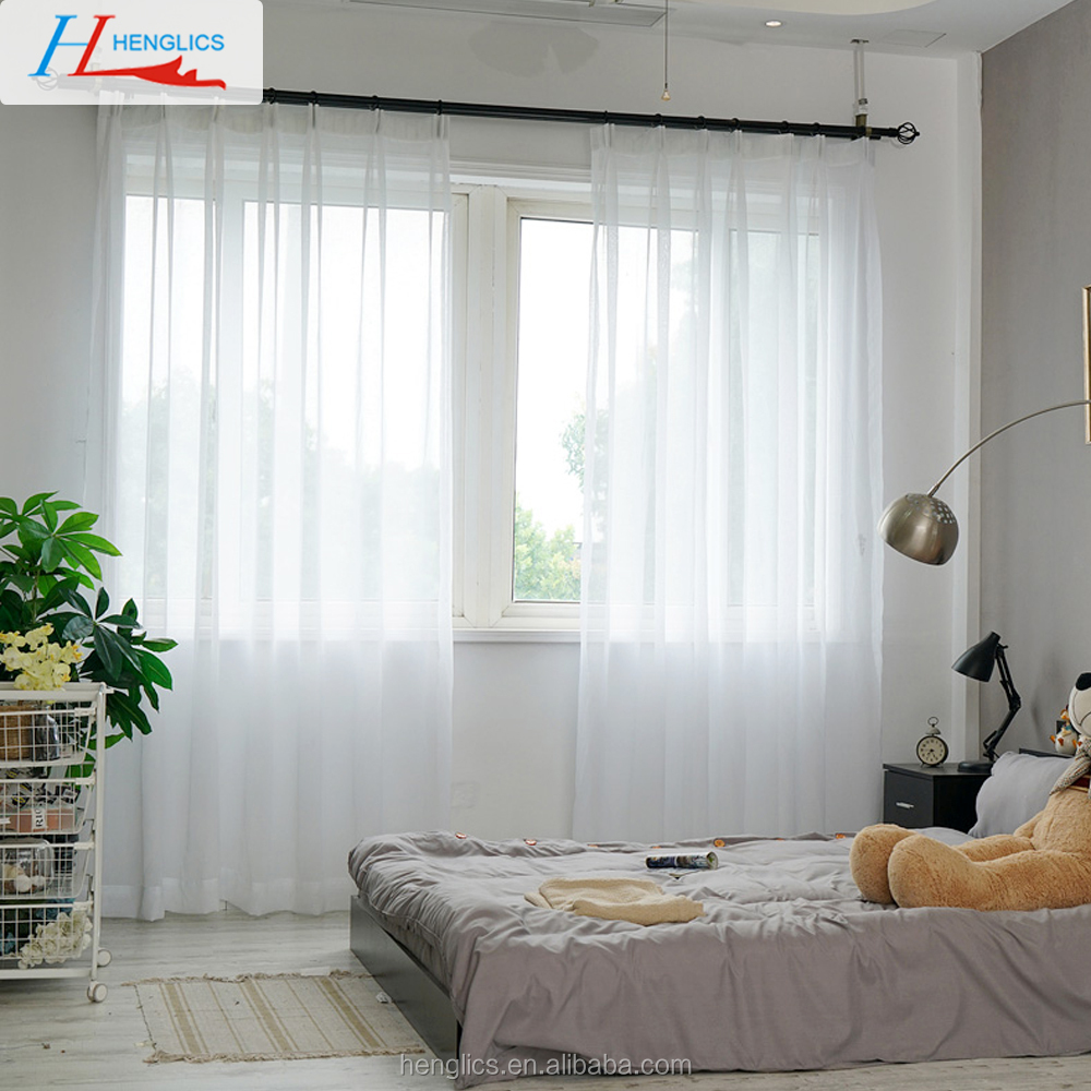 White window wholesale sheer curtains