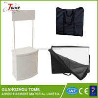 Shopping Mall Folding stand Promotion Table With Shelf And Hook