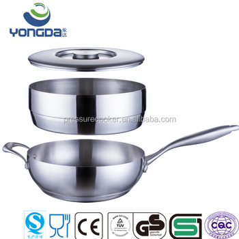 Rosle Stainless Steel Flat Bottom Non Stick Flying Pan Fly Product On Alibaba