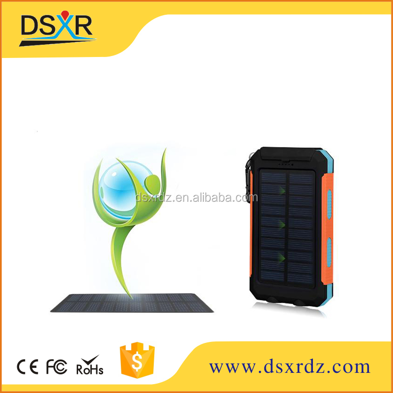 Best selling Wholesale waterproof dual USB solar power bank 8000mah,power bank portable charger with power indicator