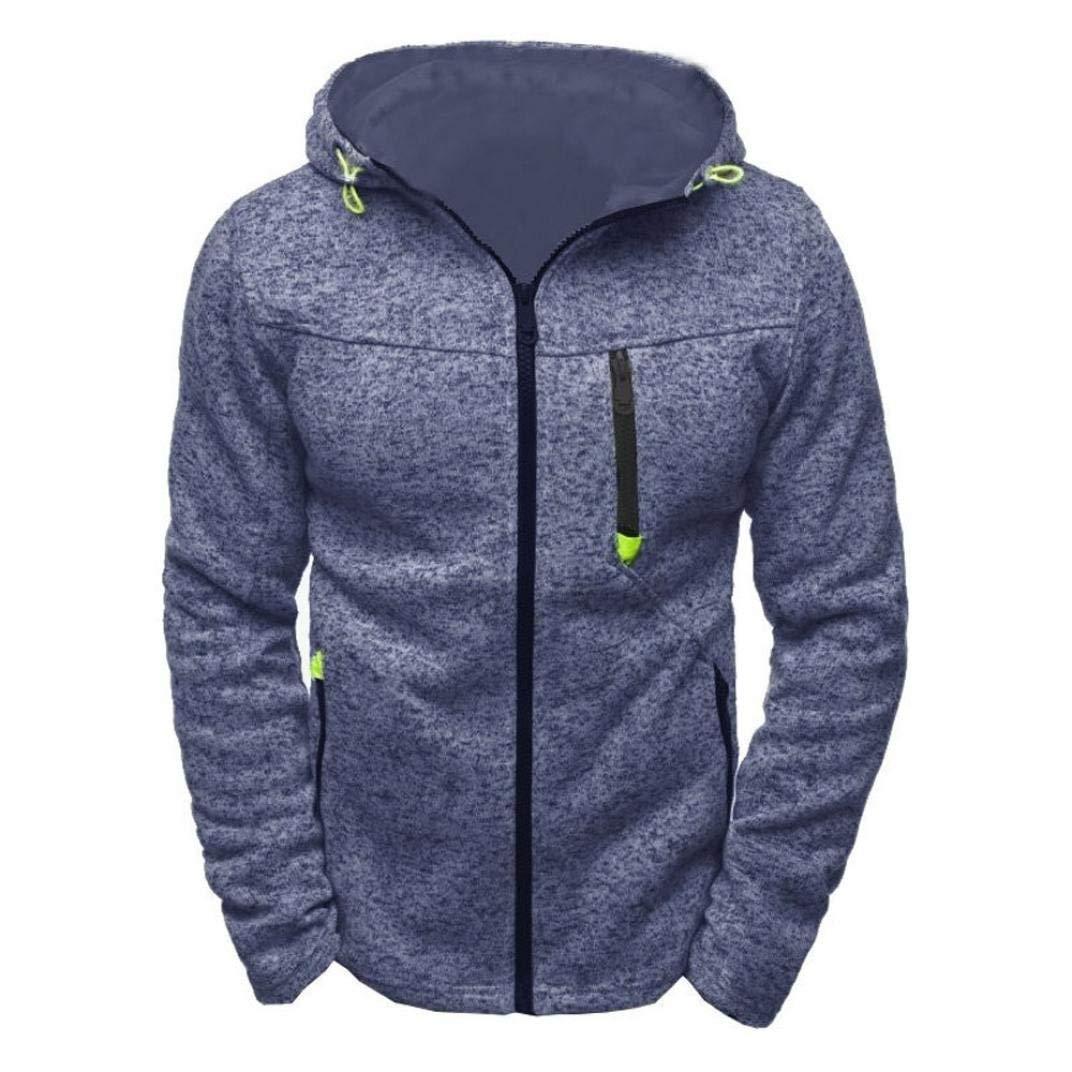 Clearance ! Men Hoodie, WuyiMC Men's Hoody Zipper Slim Hoodies Sweatshirts Pullover Coat Jacket 2018