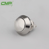 CMP waterproof metal push button 12mm round switch