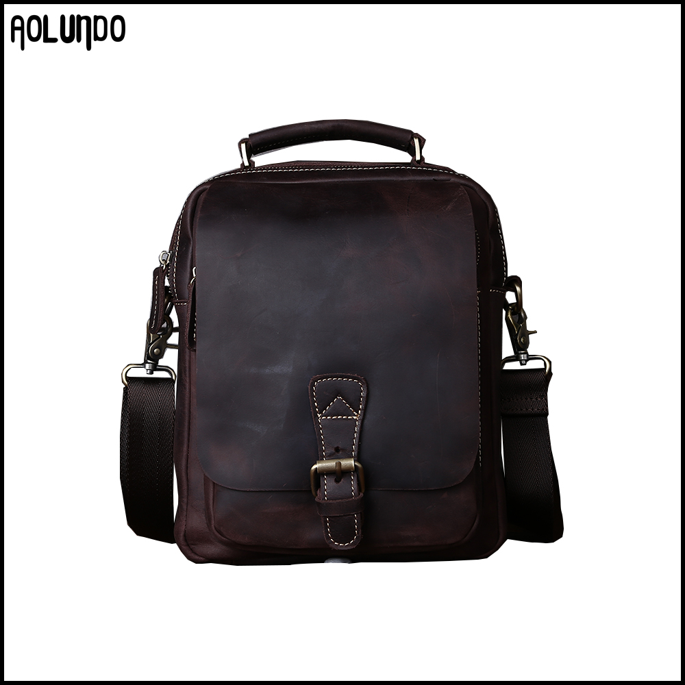 Leisure mini leather portable handbags mens backpacks