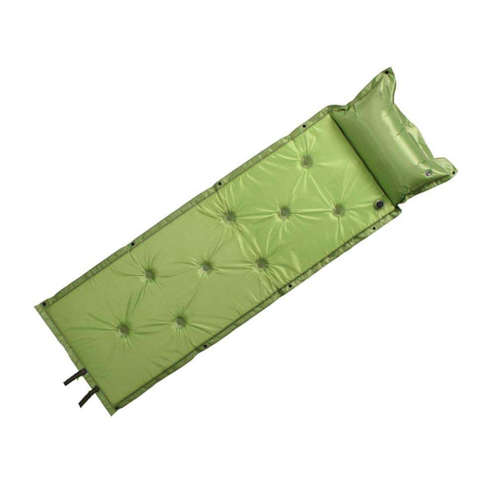 NQFL Waterproof Automatic Inflatable Bed Self Inflating Dampproof Sleeping Pad Tent Air Mat Mattress With Pillow For Outdoor Camping Sleeping Bag,Green