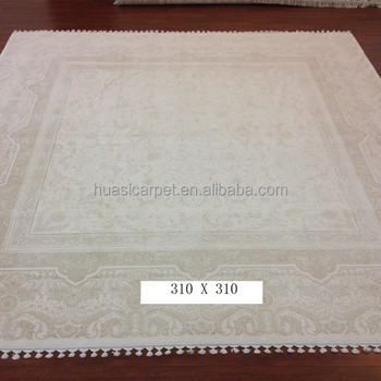 Square Persian Handwoven Wool Silk Blend Carpets Handmade Rugs India For Home Rug And Product On