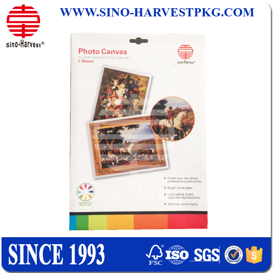 Canvas textured Photo Paper