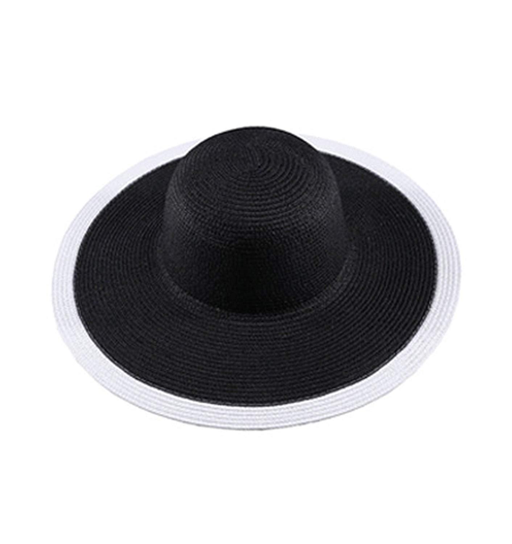 7b415064 Get Quotations · Paddy Meredith Summer Women Foldable Sun Hat Wide Large  Brim Beach Sun Hat Straw Beach Cap