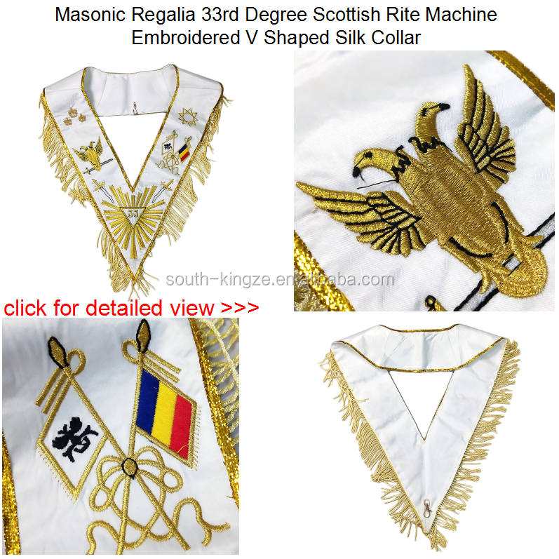 Ceremonial Pure Cotton Mason Regalia Custom Embroidered Logo Past Master Wholesale Masonic Gloves For Freemason