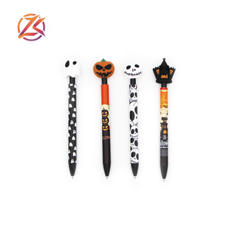 New cheap promotional halloween gift pen cartoon ballpoint pen