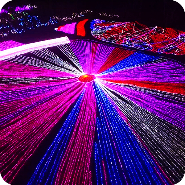LED decorate ceiling led fishing net lights party decoration christmas