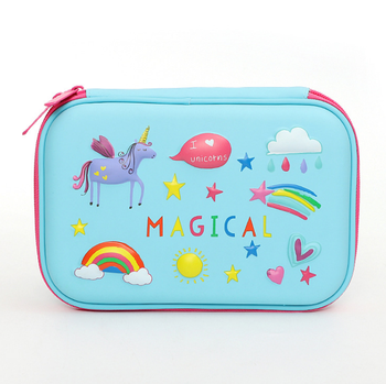 custom student pen bag with exquisite digital printing, makeup bag for girls