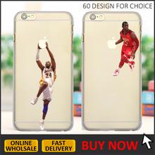 Jordan factory custom print basketball NBA team sport star matte plastic mobile phone case for iphone 6 6s