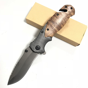Browning X50 5Cr15MoV Steel Blade Metal Bolster Rosewood Handle Titanium Finish Folding Blade Knife Pocket Knife