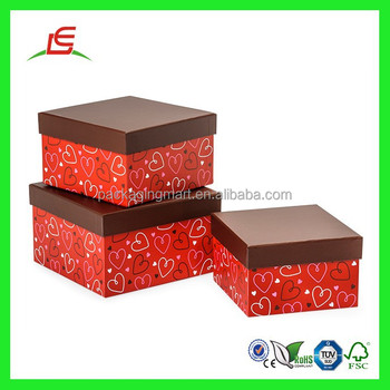 Q946 Wholesale Cheap Cardboard Nested Gift Boxes,Square Nesting ...