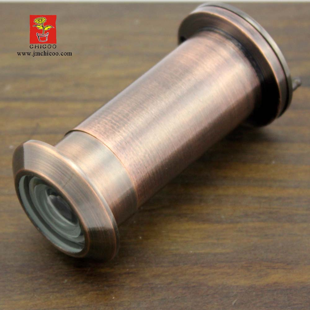 200 Degree wide angle with glass lens Antique copper lengthen door viewer, Door Peephole Viewer