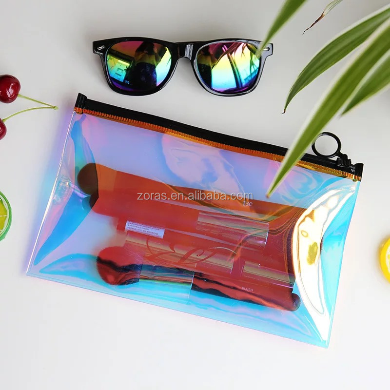Wenzhou Factory Custom Cheap Price Holographic PVC Cosmetic Bag
