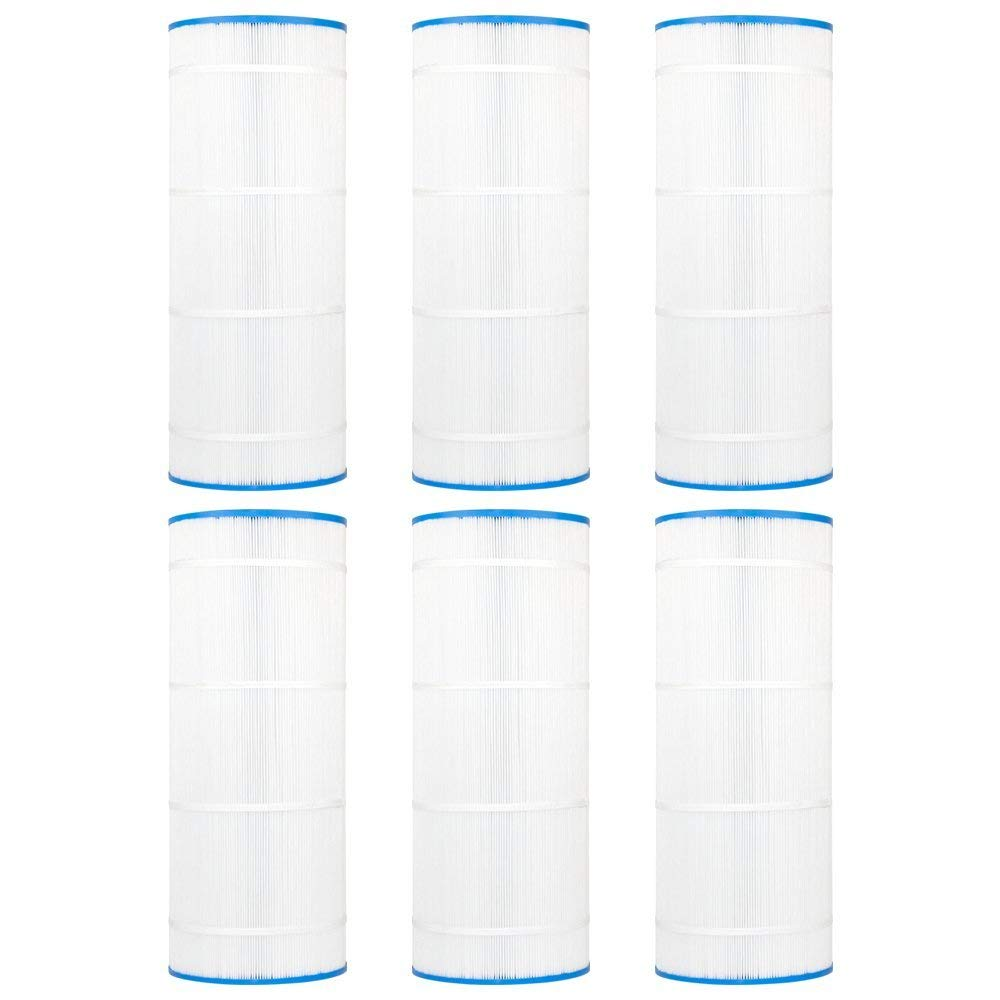 "Clear Choice CCP311 Pool Spa Replacement Cartridge Filter for Waterway Pool 150, Leisure Bay WW-150 Filter Media, 9-15/16"" Dia x 25-5/16"" Long, [6-Pack]"