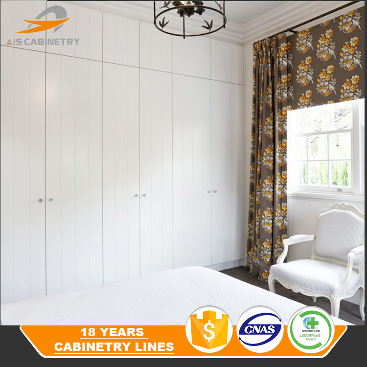 Best quality 6 door bedroom white big wood wardrobe design
