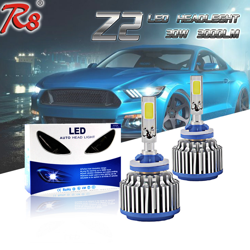360 G5 Z2 LED Car Headlight Kit H1 H3 880 881 H27 High Power LED Bulb 30W 3000LM White 6000K Good Quality One year Warranty