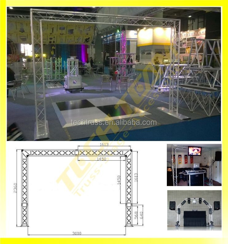 Quickly assemble aluminium square DJ truss system / DJ booth