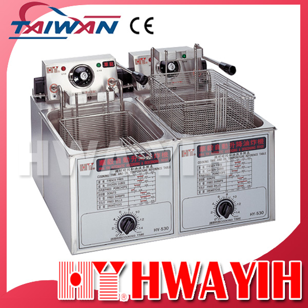 HY-536 Double Commercial Electric Automatic Basket Lift Deep Fryer Machine