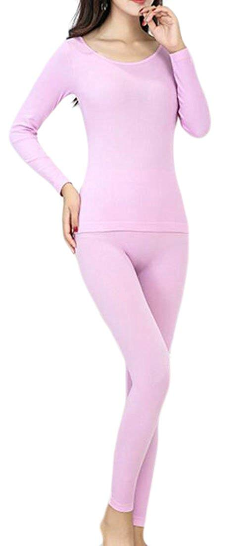 Cromoncent Womens Bottom Fleece Thermal Underwear Stretch Skinny Johns