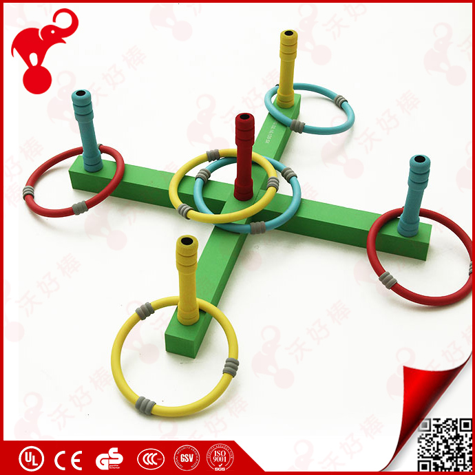 China professional foam toys factory NRB/ EVA foam plastic color kids garden ring toss set game