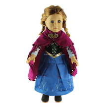 JC166- doll clothes- 18 inch american girl doll clothes Princess dress-China 18 inch doll manufacturer