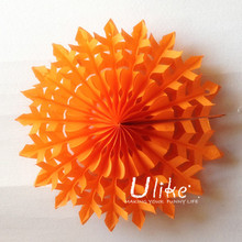 Christmas Tree Hanging Decoration Tissue Paper Snowflake Flower Fan for party favors